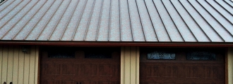 Painted Copper Roofing